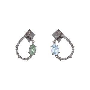 Alexis Bittar Crystal Encrusted Mismatch Earrings